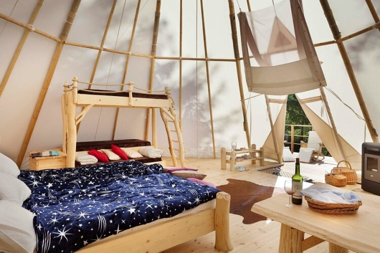 Romantika s wellness v Teepee & Spa